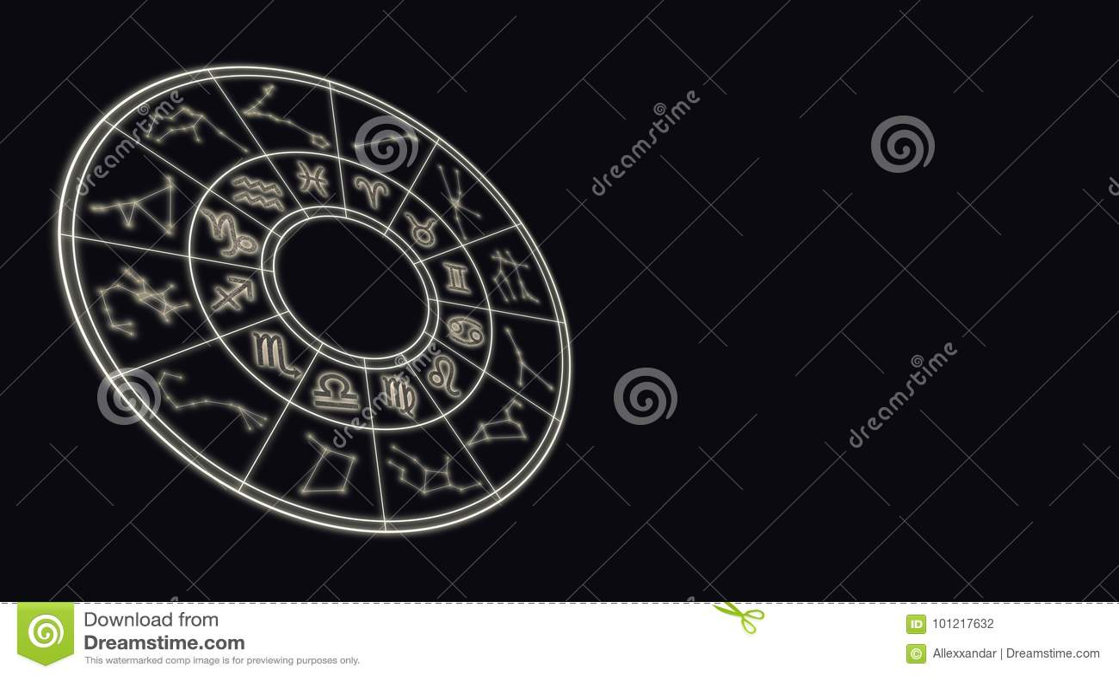 Concetto degli oroscopi e di astrologia Lo zodiaco astrologico firma dentro la c