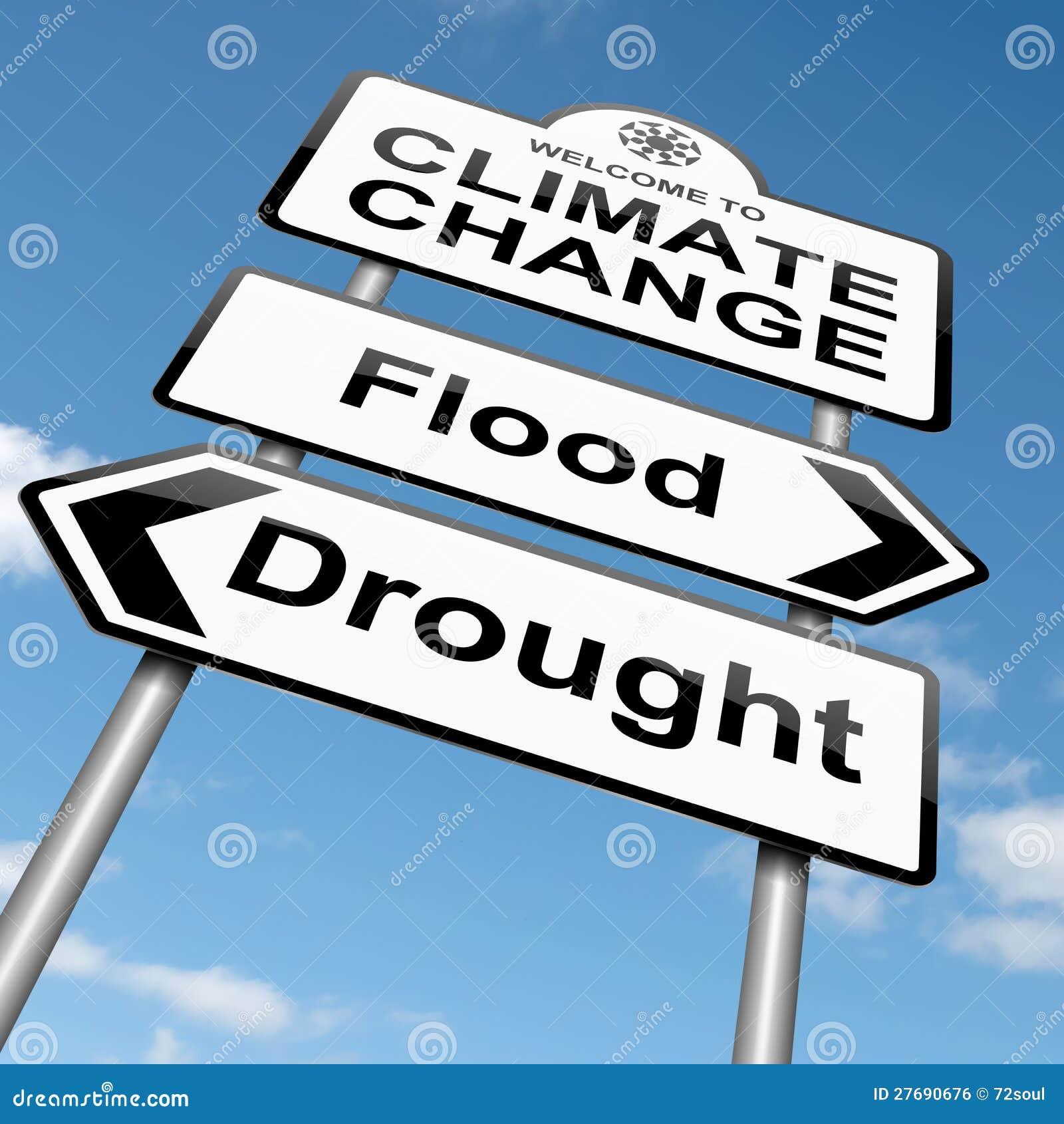 Concetto del cambiamento di clima.