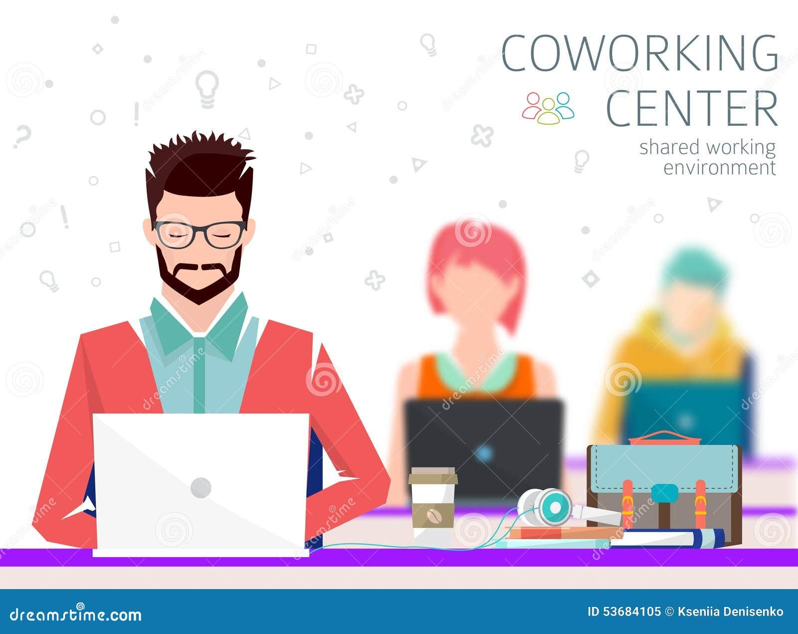 Concetto del centro coworking