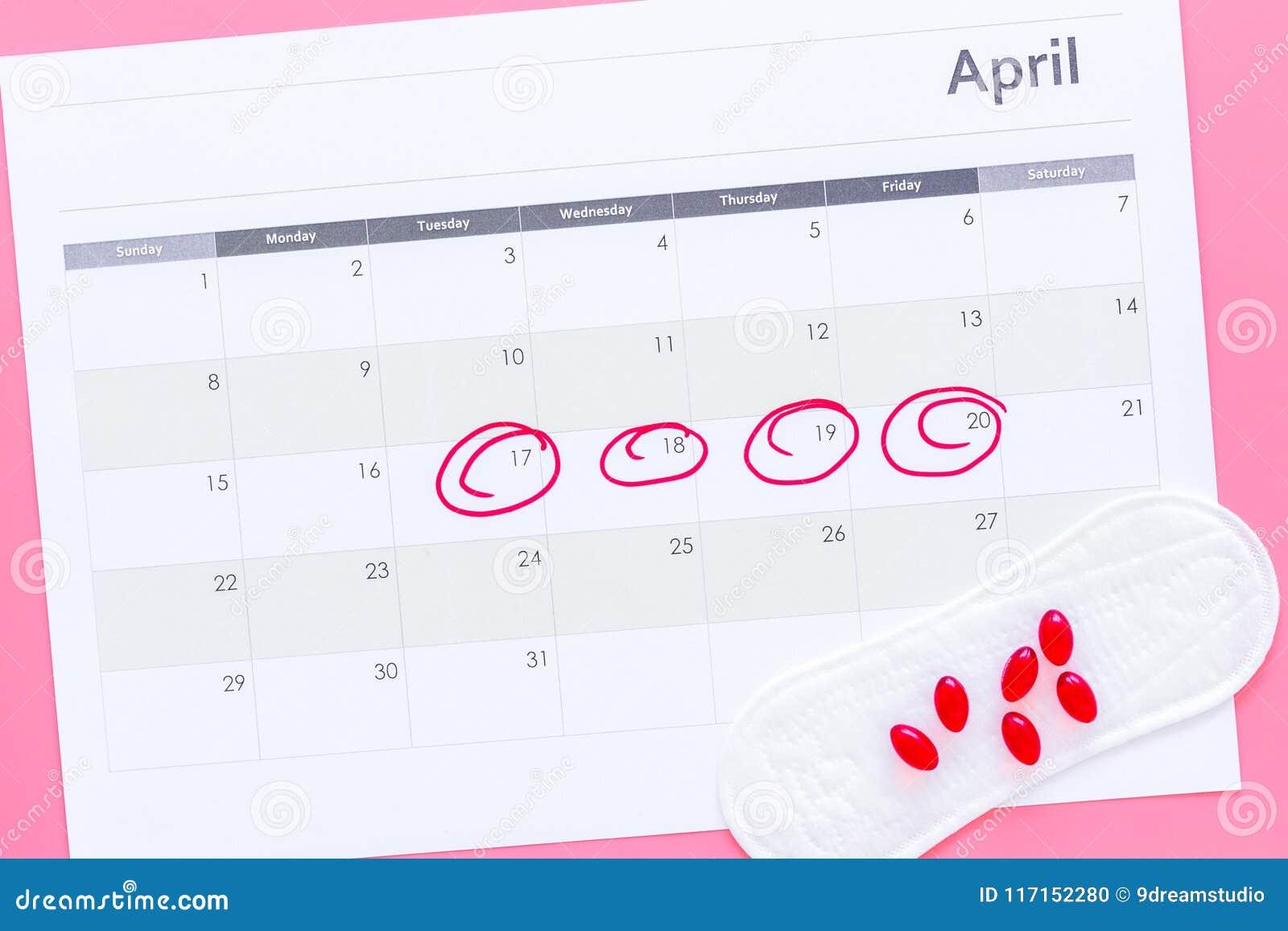 Calendario Del Ciclo Mestruale.Concetto Del Ciclo Di Mestruazione Calendario Di