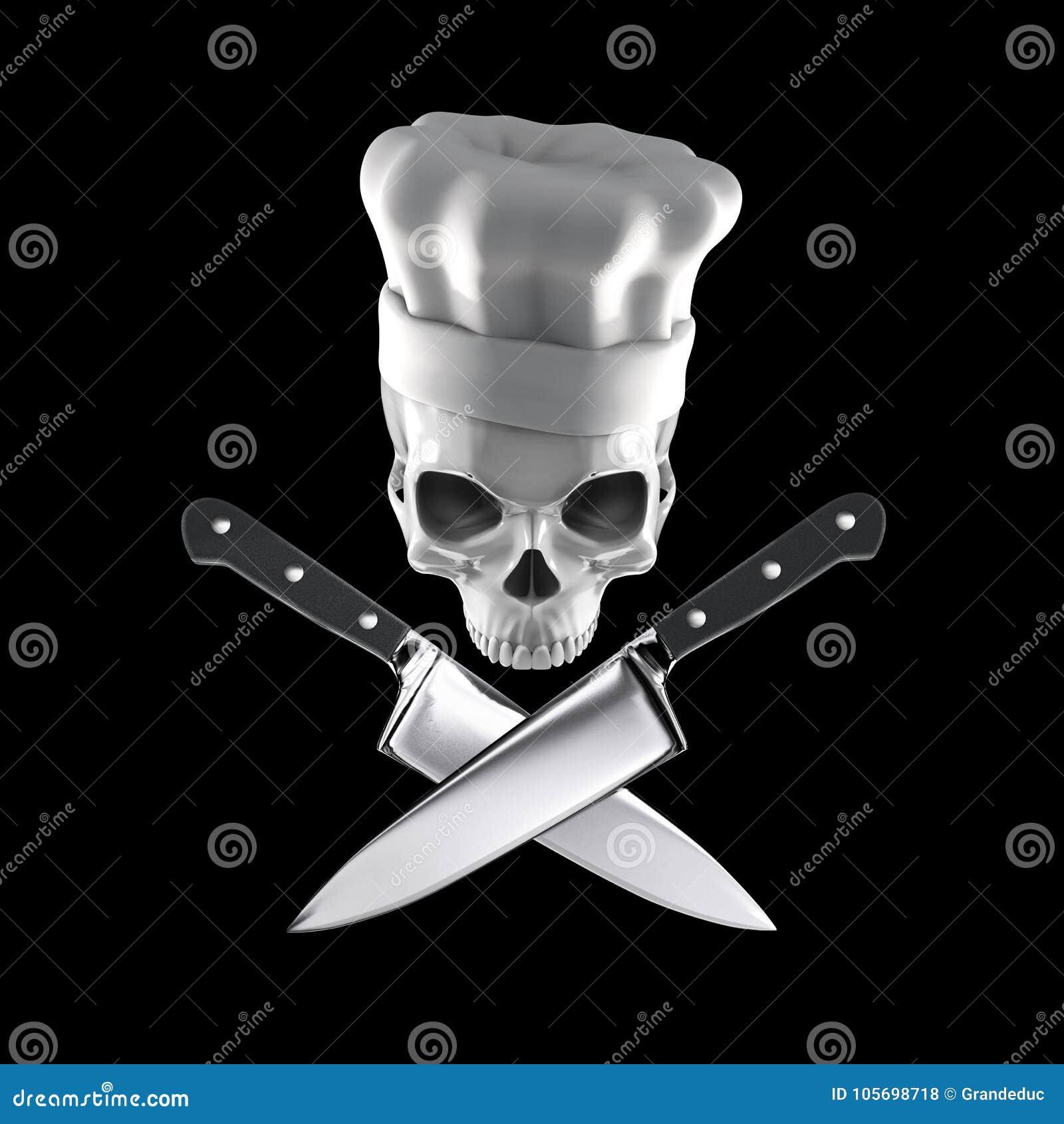 Concetto del cranio del cuoco unico