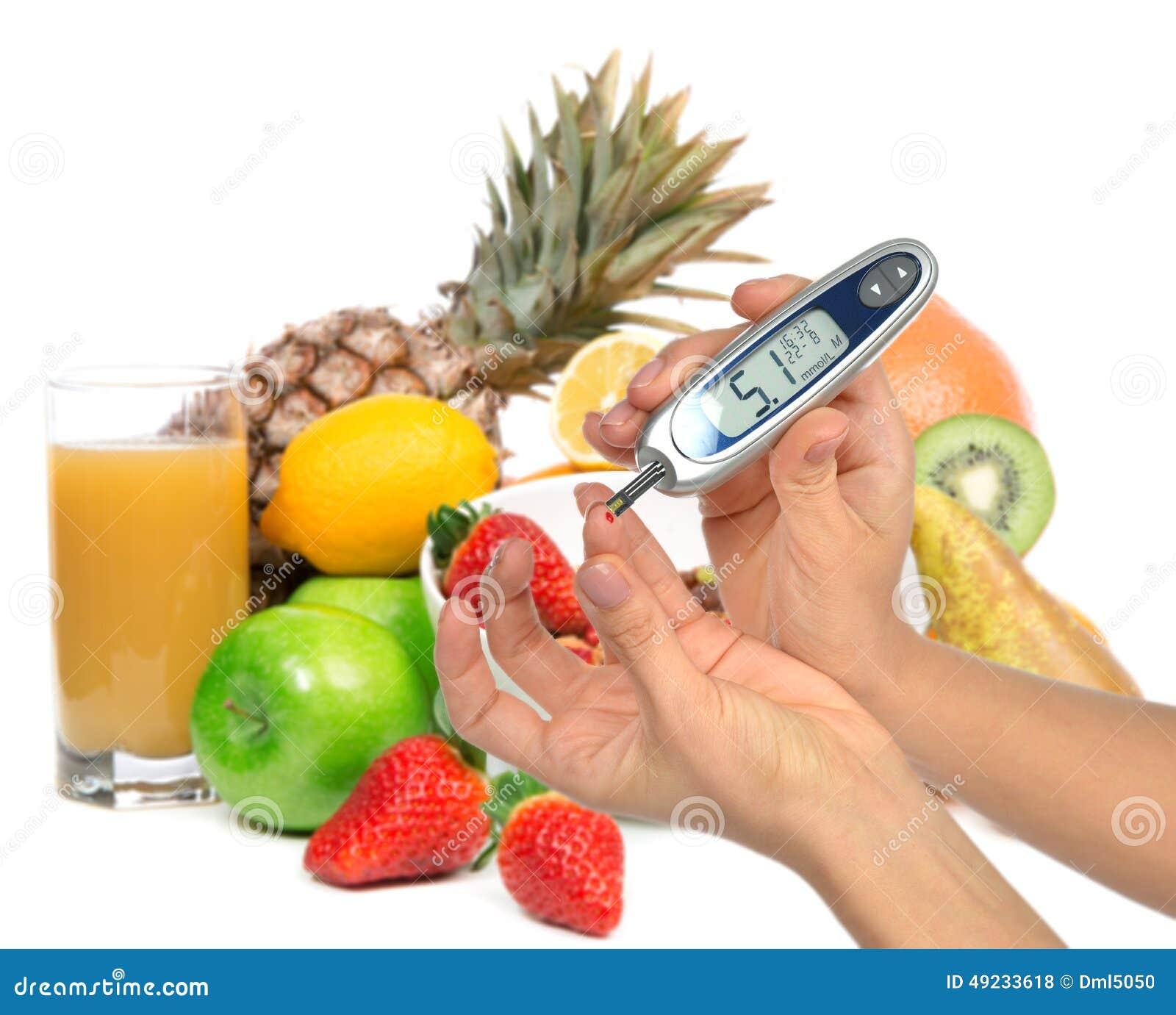Concetto del diabetico del diabete Analisi del sangue livellata di misurazione del glucosio