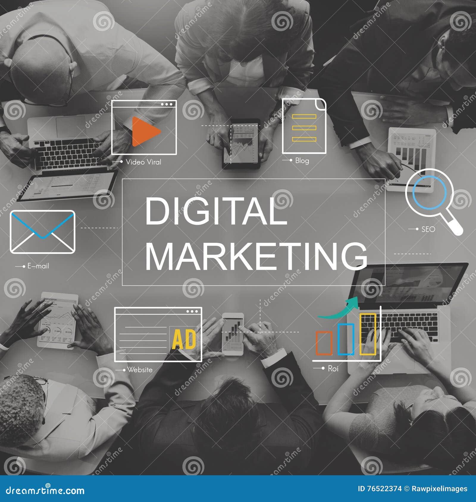 Concetto del grafico di tecnologia di mezzi d informazione di vendita di Digital