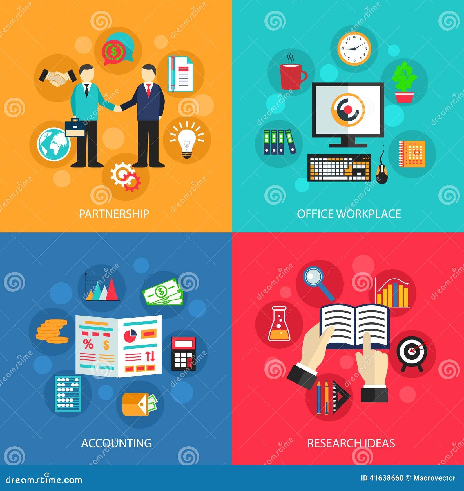 Concetto del lavoro d 39 ufficio di affari illustrazione for Ufficio lavoro
