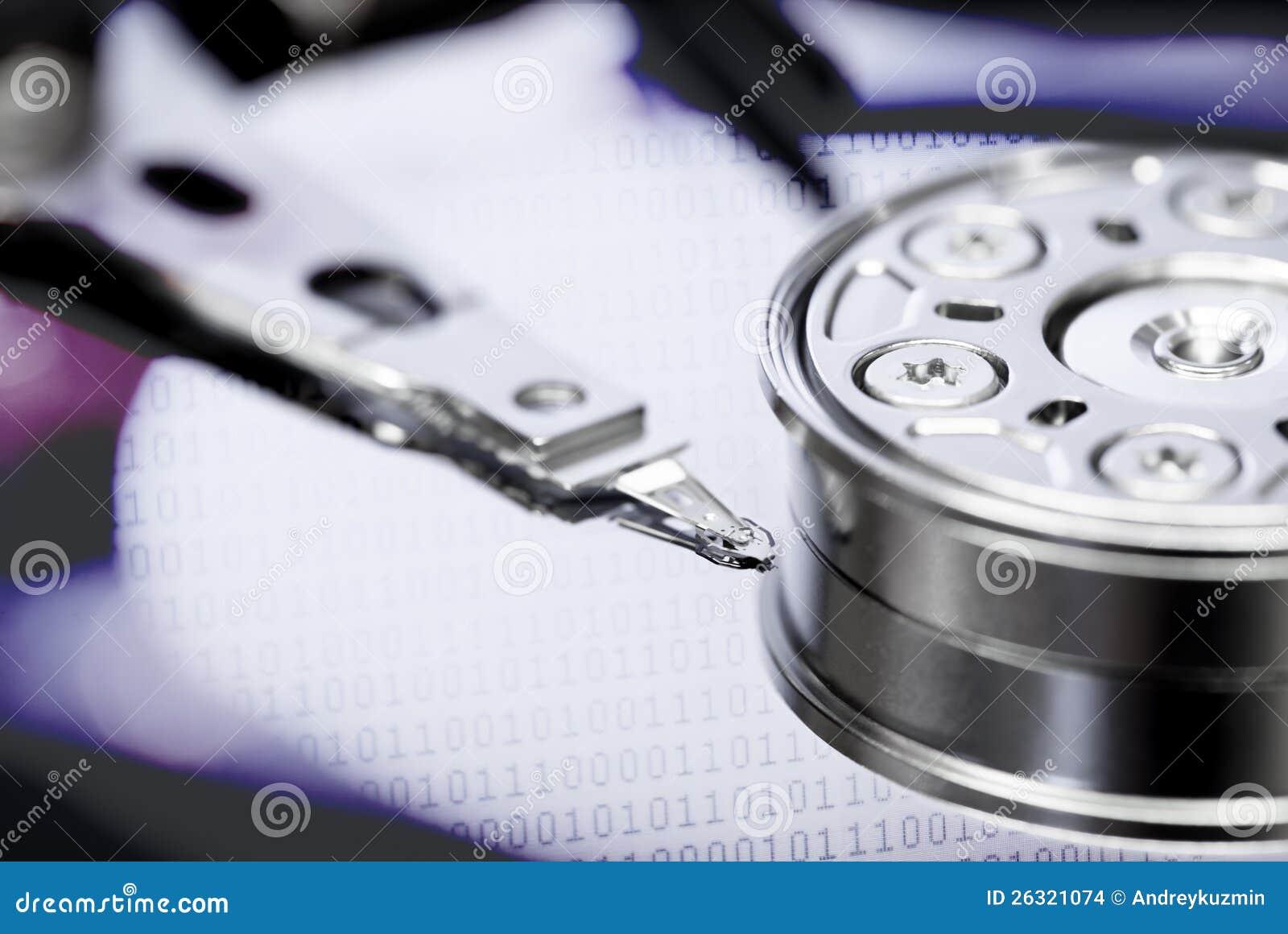 Concetto del recupero di registrazione dell informazione del disco rigido