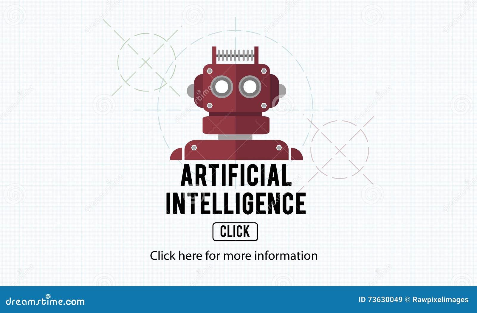 Concetto del robot della macchina di automazione di intelligenza artificiale