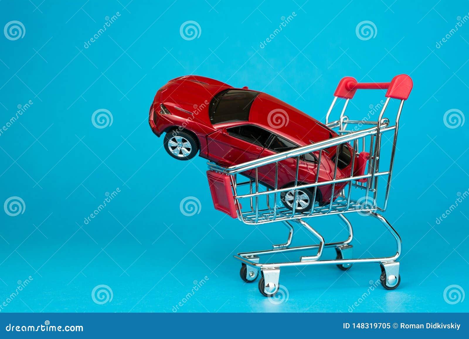 Concetto dell automobile locativa e di gestione commerciale automatica