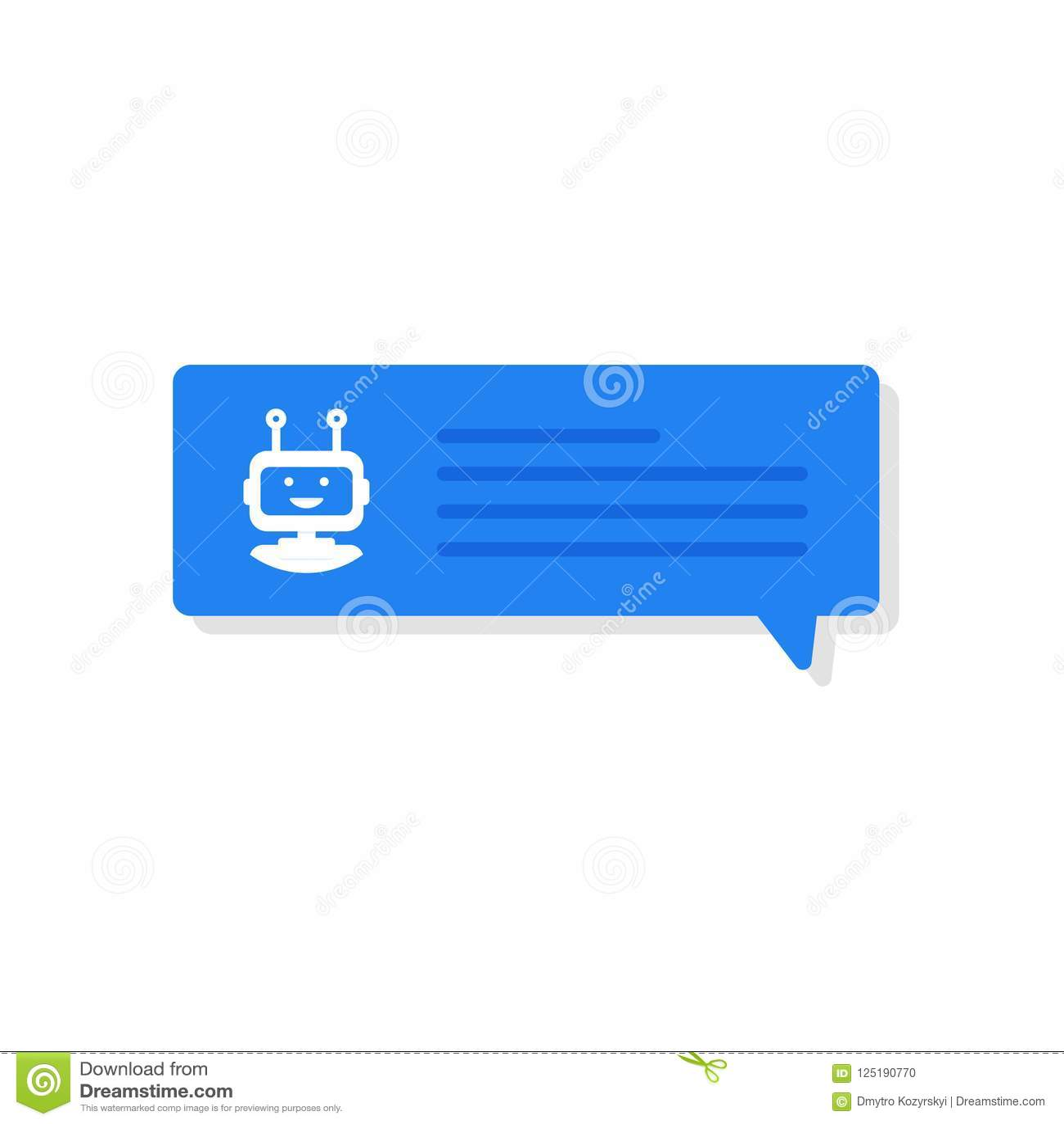 Concetto dell insegna di Chatbot Utente che chiacchiera con il chatbot nell applicazione mobile Illustrazione di vettore