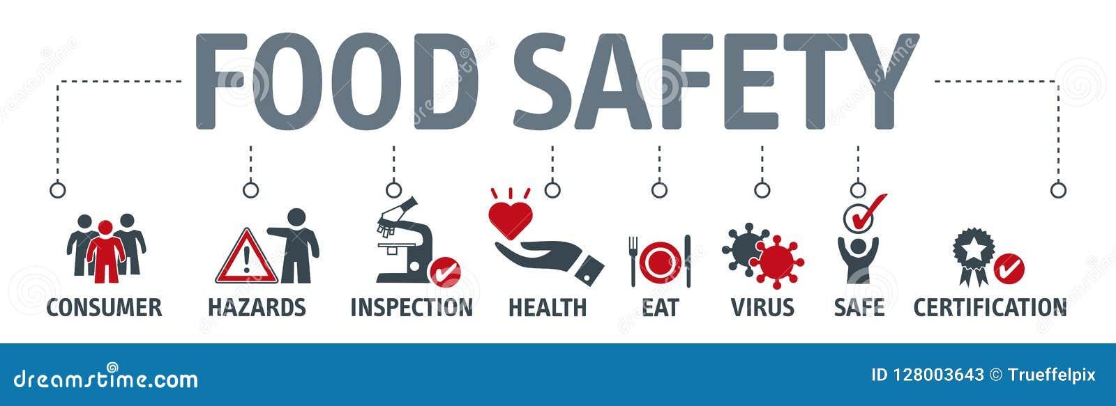 Concetto dell insegna di sicurezza alimentare Illustrazione di vettore