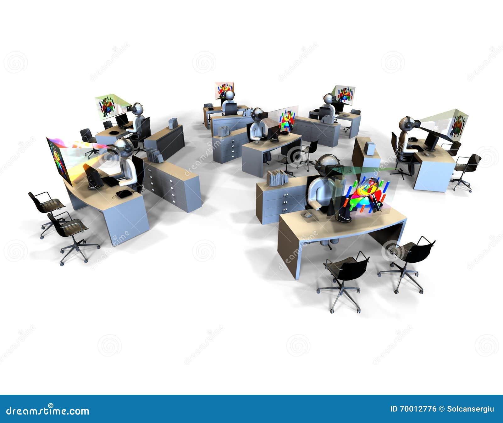 Concetto dell 39 ufficio di realt virtuale illustrazione di for Ufficio virtuale