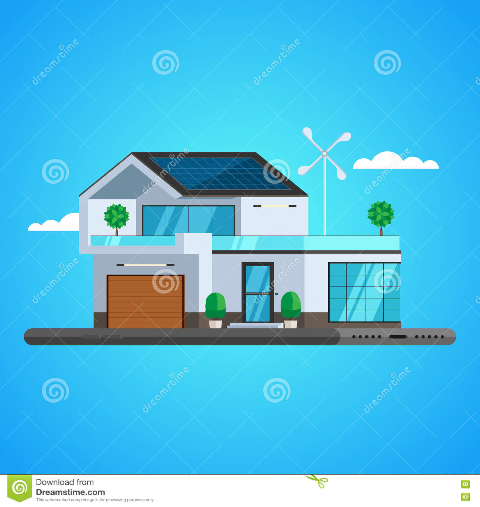 Concetto della casa intelligente illustrazione vettoriale for Aprire piani casa concetto