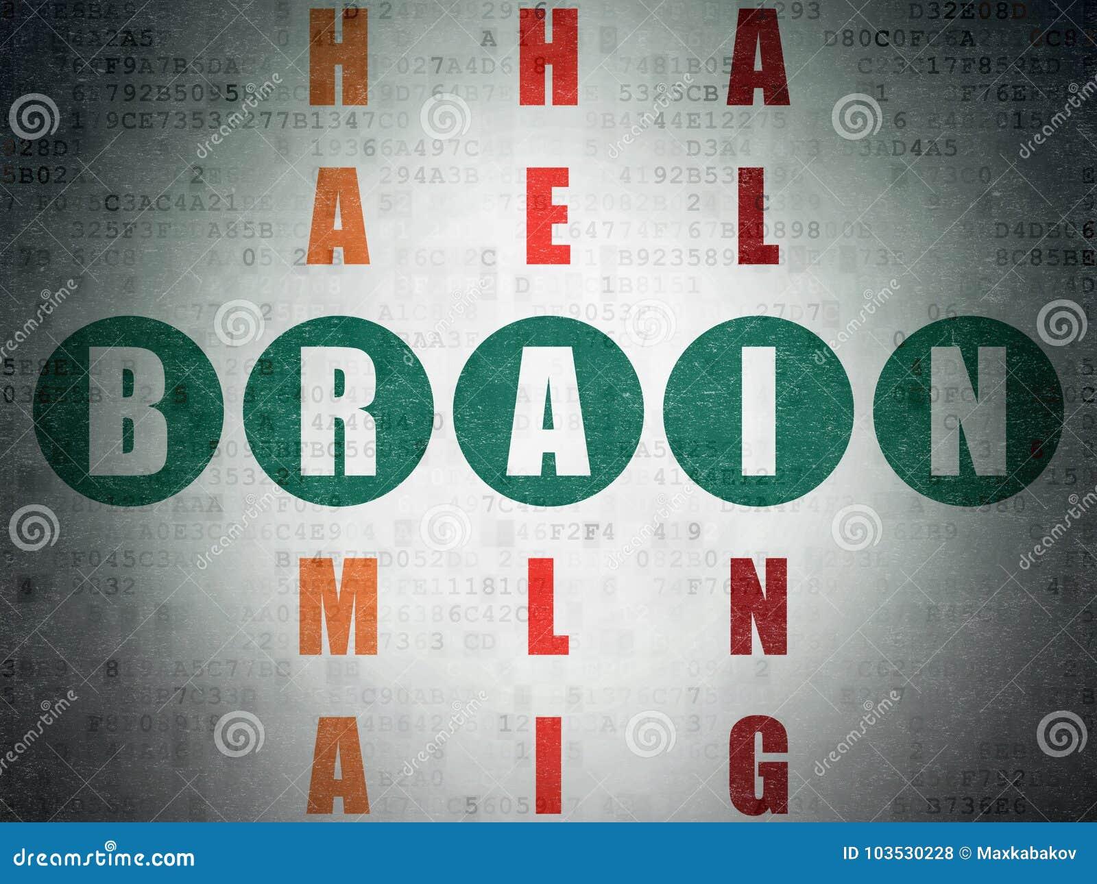 Parete Di Legno Cruciverba : Concetto della medicina cervello nel cruciverba illustrazione di