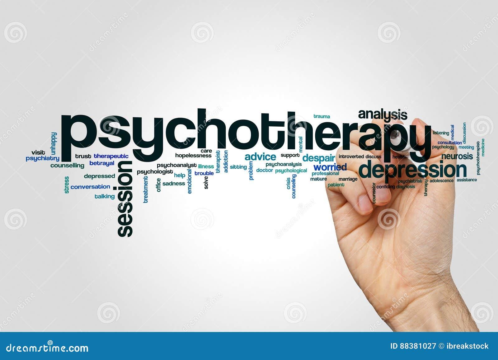 Concetto della nuvola di parola di psicoterapia