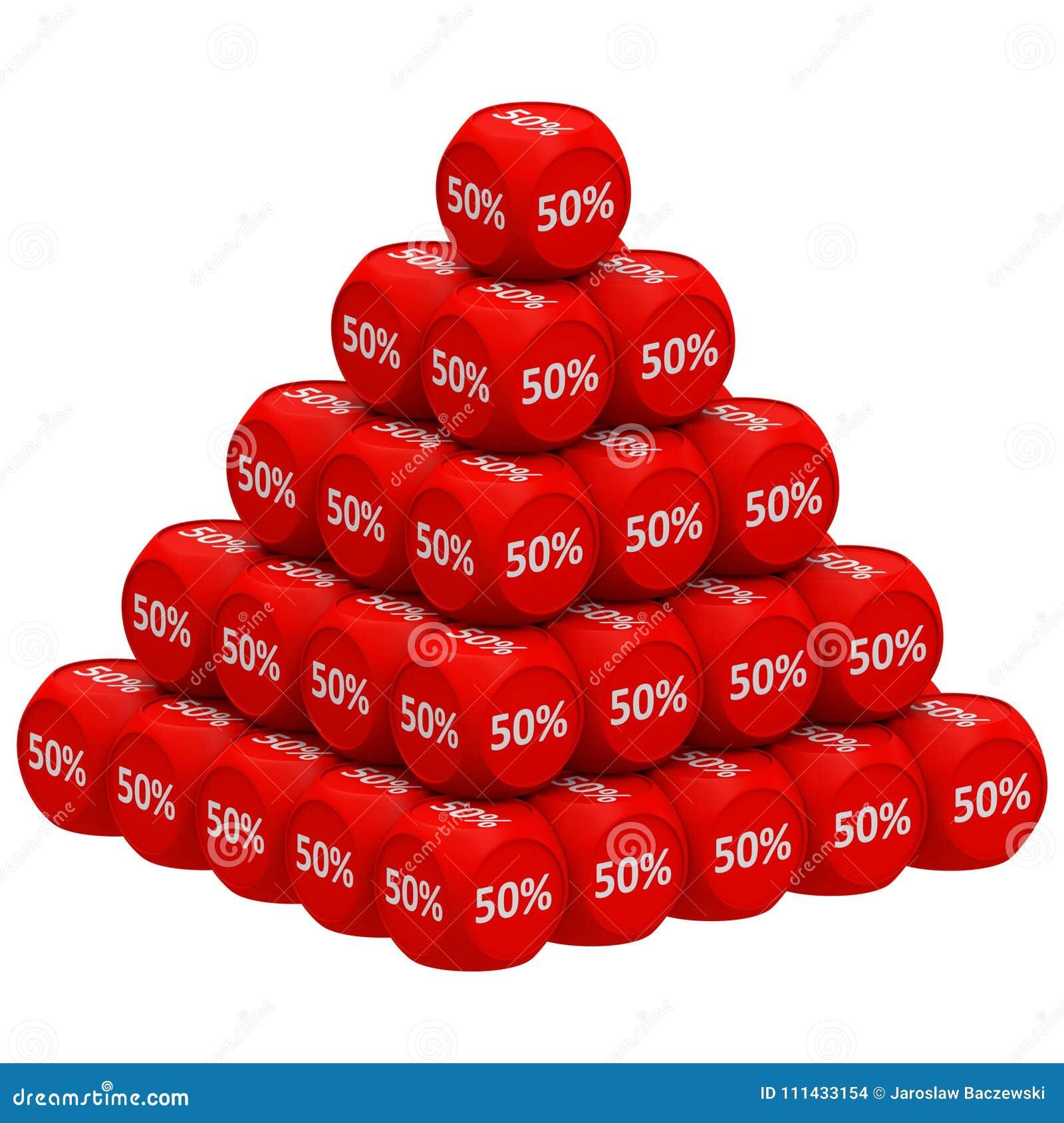 Concetto 50  della piramide di sconto