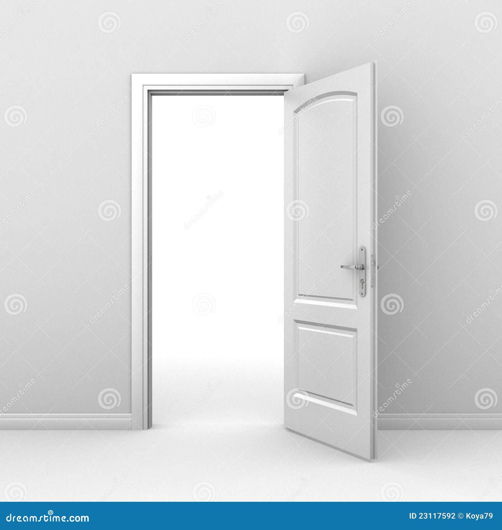 concetto della porta aperta 3d illustrazione di stock
