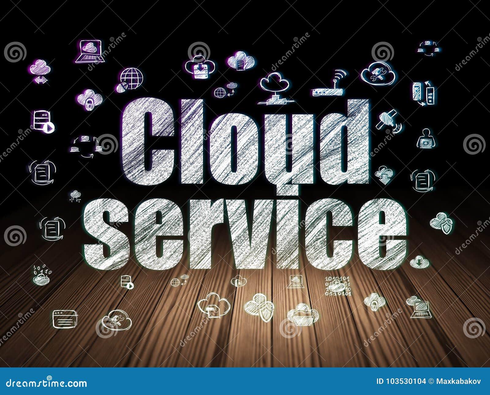 Concetto della rete della nuvola servizio della nuvola for Testo il cielo nella stanza