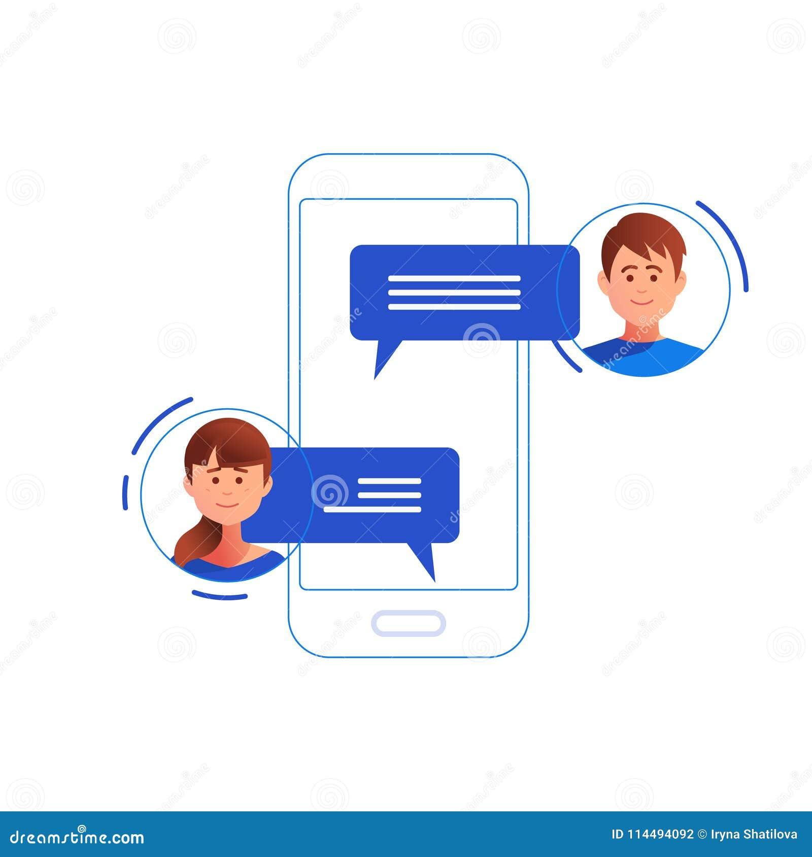 Concetto della rete sociale chiacchierata