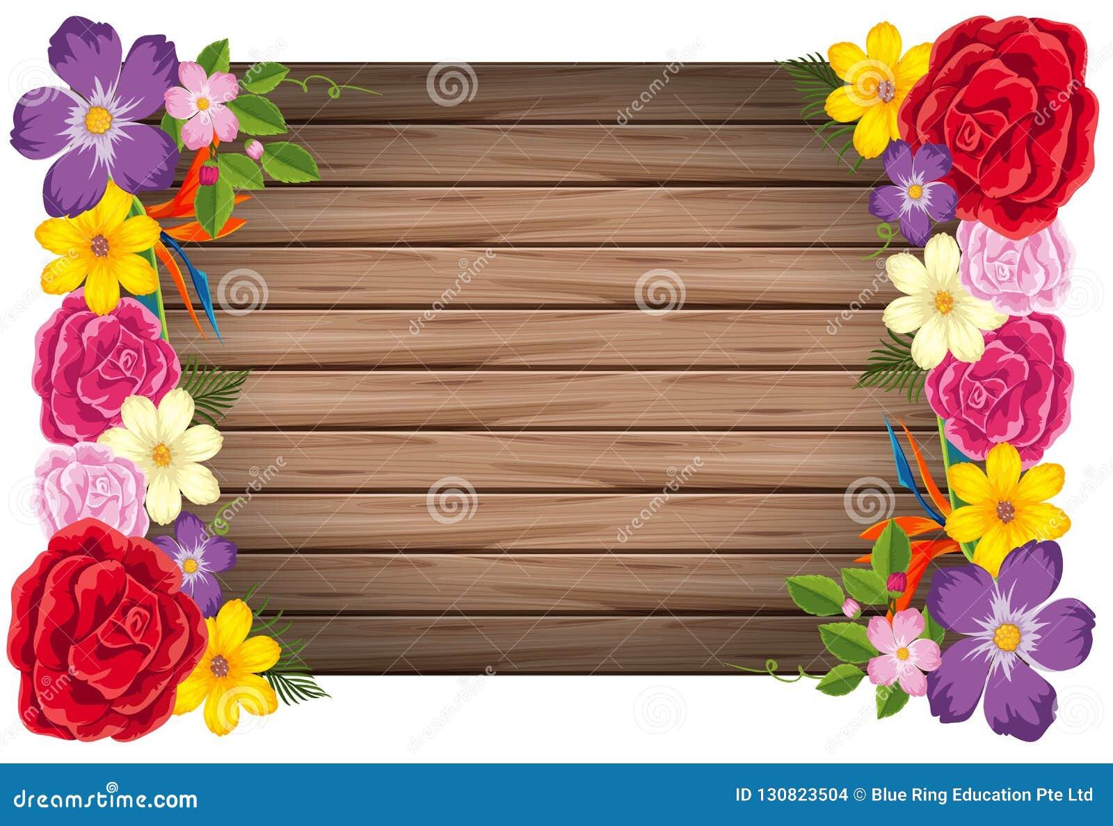 Concetto della struttura di legno dei fiori