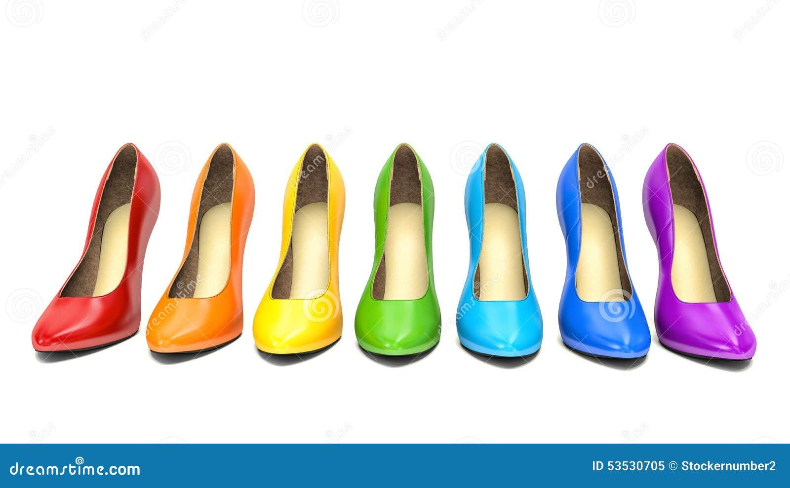 Scarpe Tacco Colorate