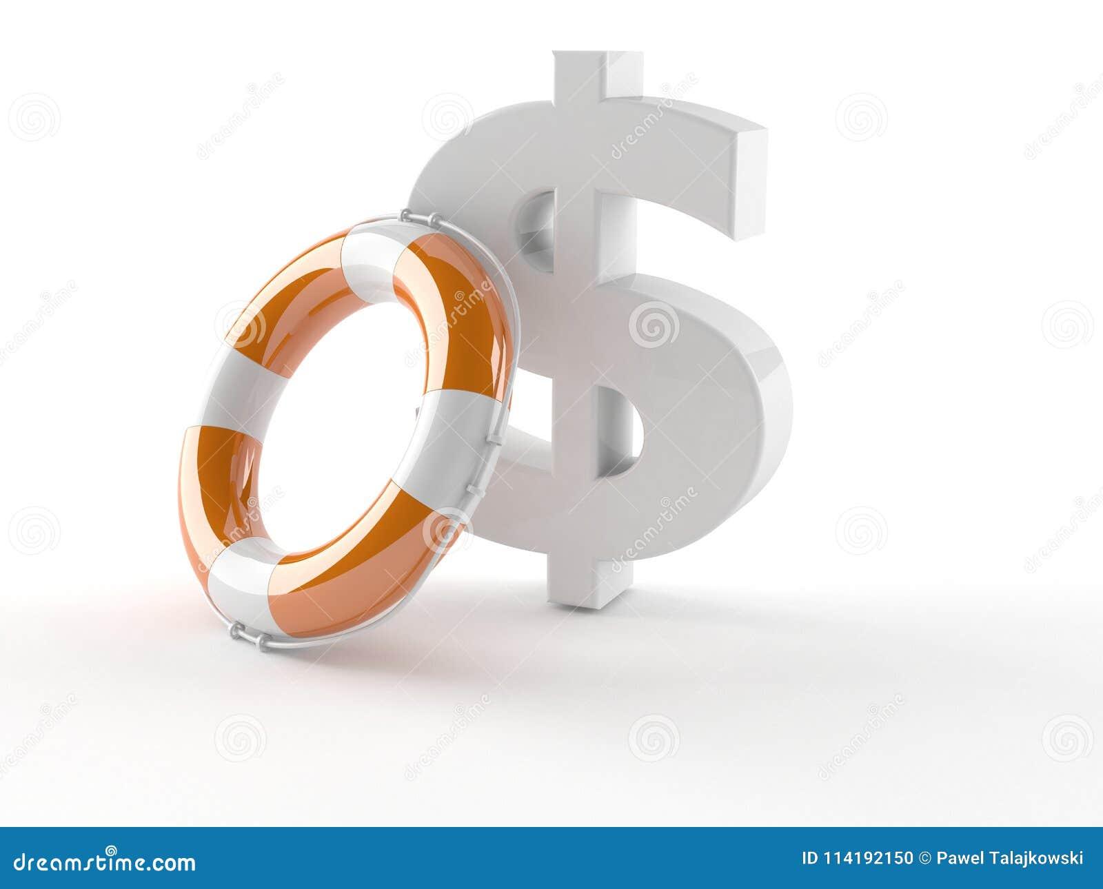 Concetto di aiuto del dollaro