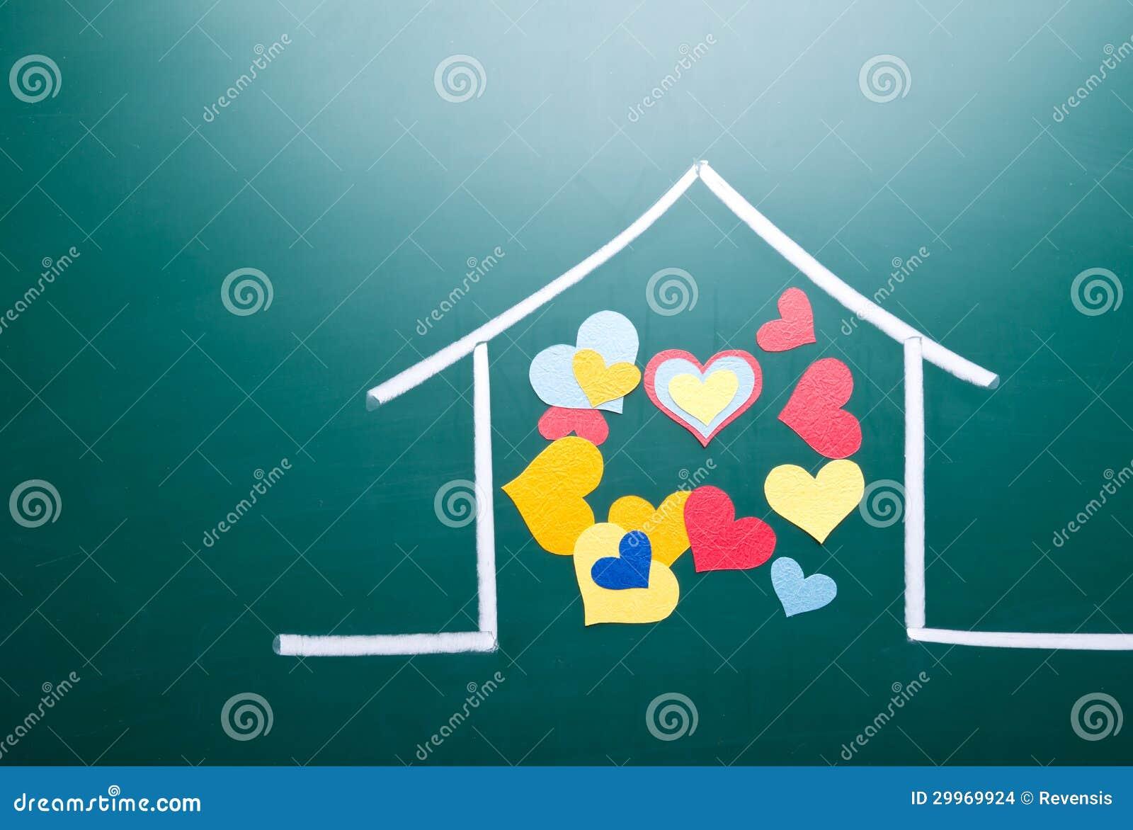 Amore della famiglia e forma variopinta del cuore immagini for Apri le foto di case di concetto