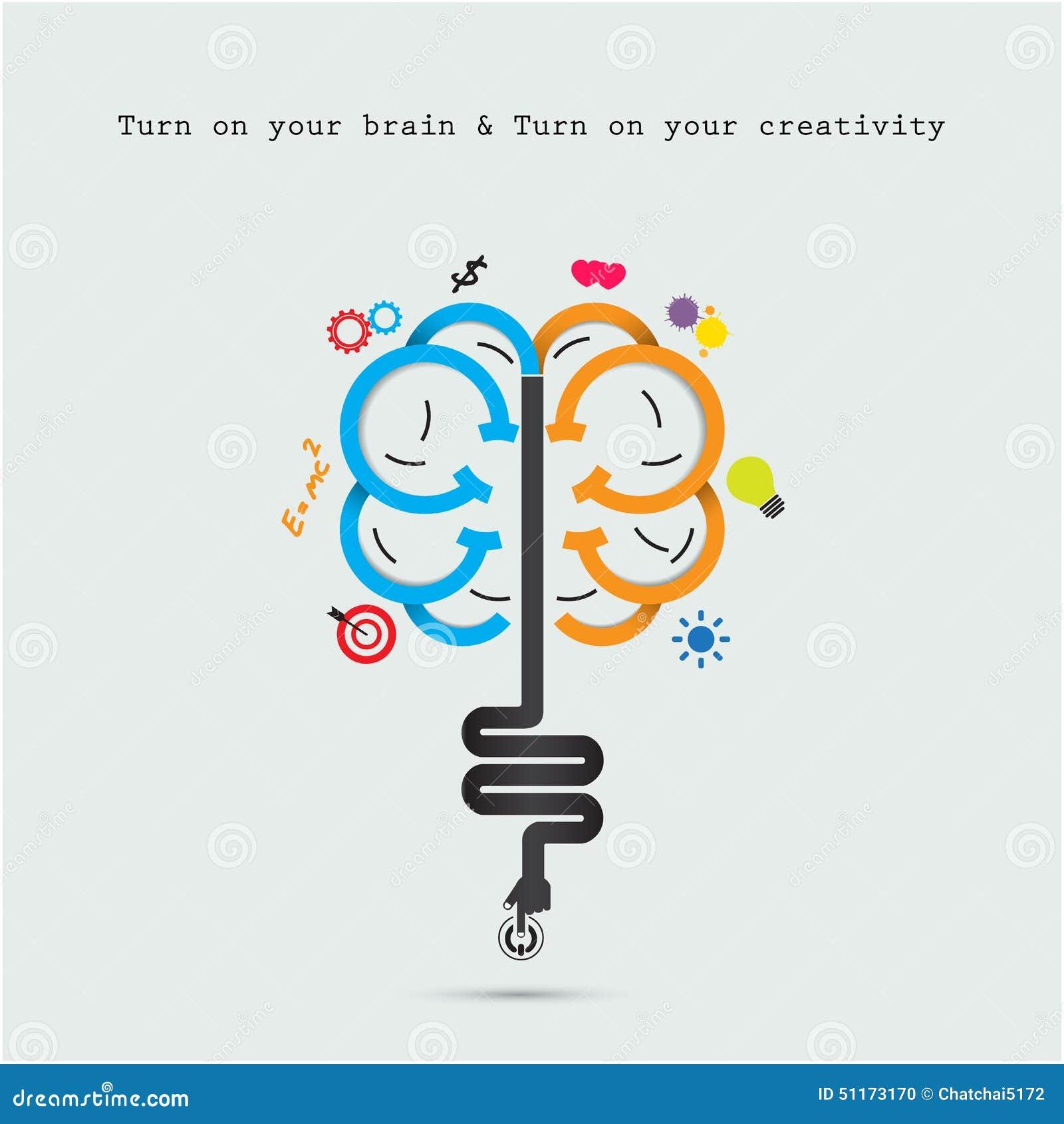 Concetto di apertura del cervello Progettazione creativa di logo di vettore dell estratto del cervello