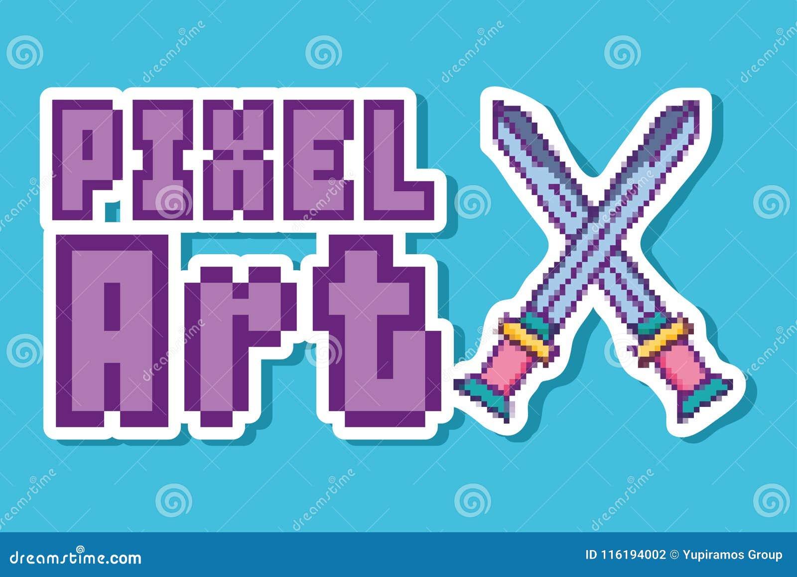 Concetto di arte del pixel