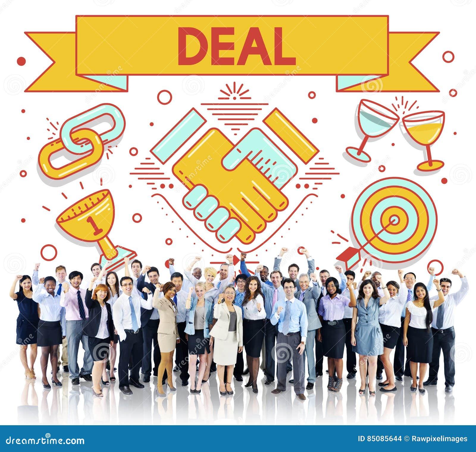 Concetto di associazione di strategia di soluzione del contratto di affare