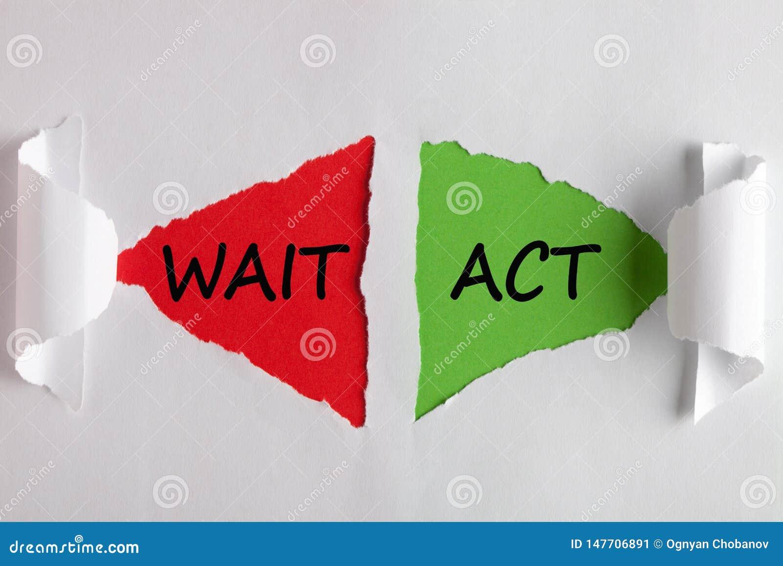 Concetto di attesa di atto