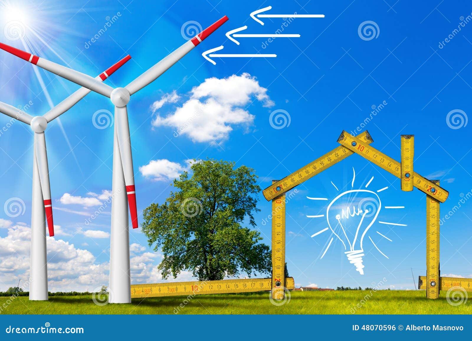 Concetto di casa ecologico dell 39 energia eolica for Concetto di piani per la casa