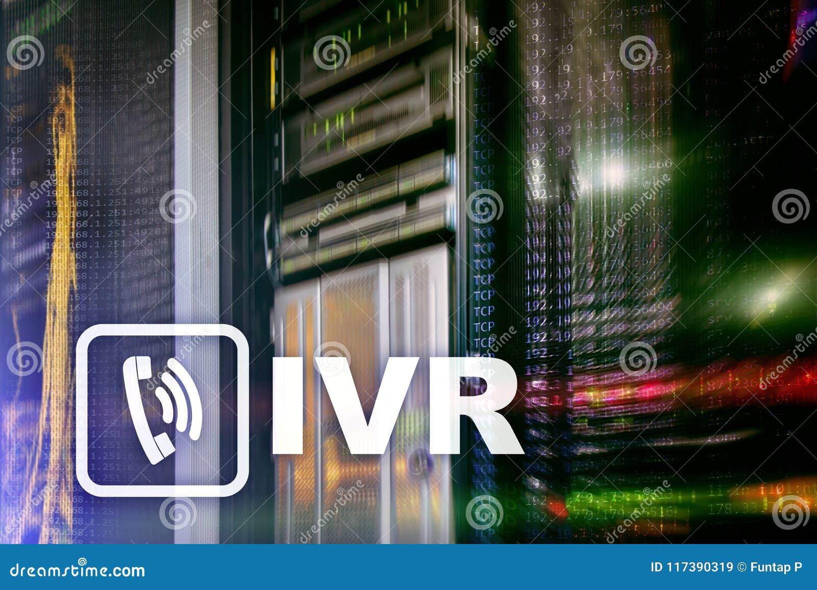 Concetto di comunicazione di risposta vocale interattiva di IVR