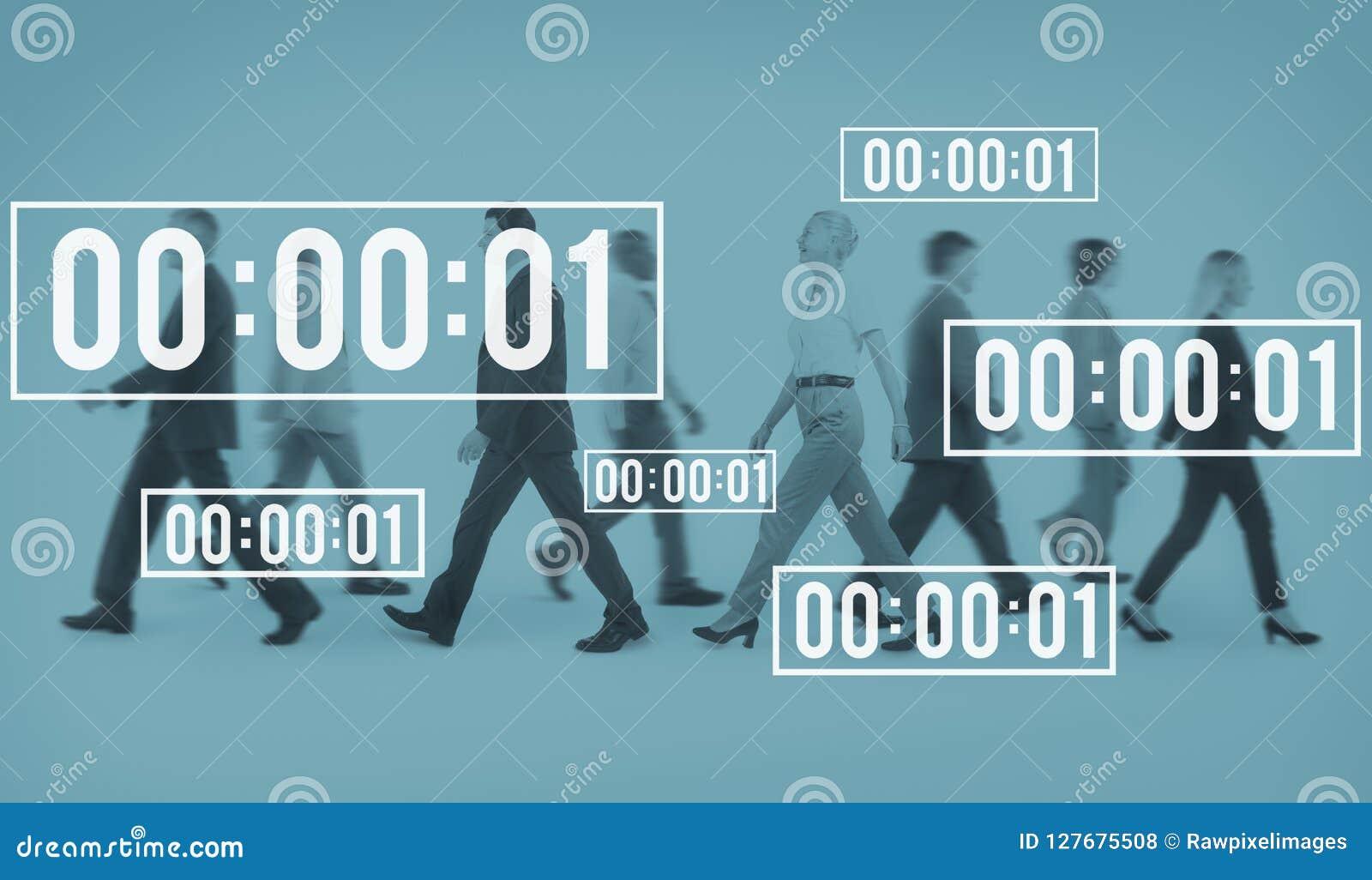 Concetto di conto alla rovescia di durata della gestione del cronometro di vita