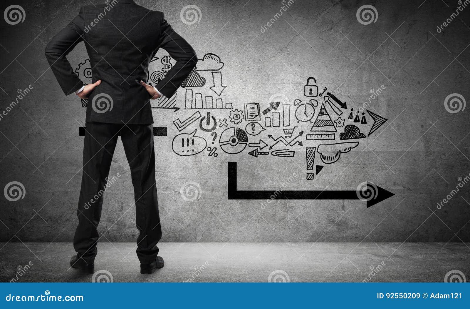 Concetto di crescita e di progresso di affari