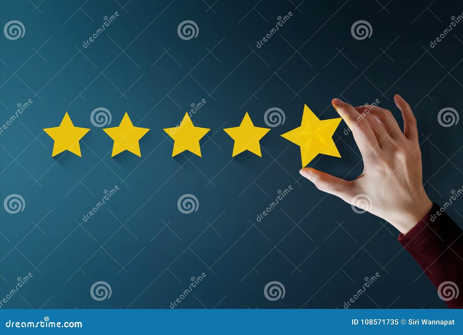 Concetto di esperienza del cliente, migliori servizi eccellenti per Satisfa