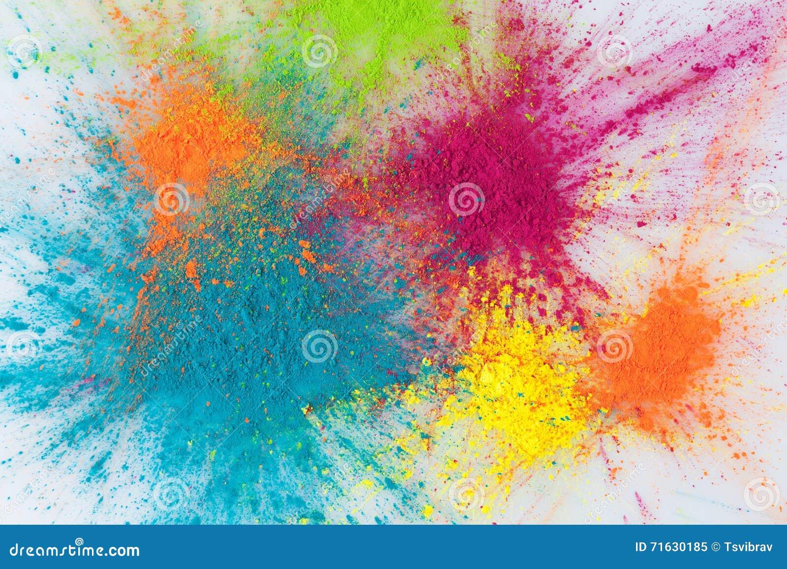 Concetto di esplosione di colore con il primo piano della - Immagine di terra a colori ...