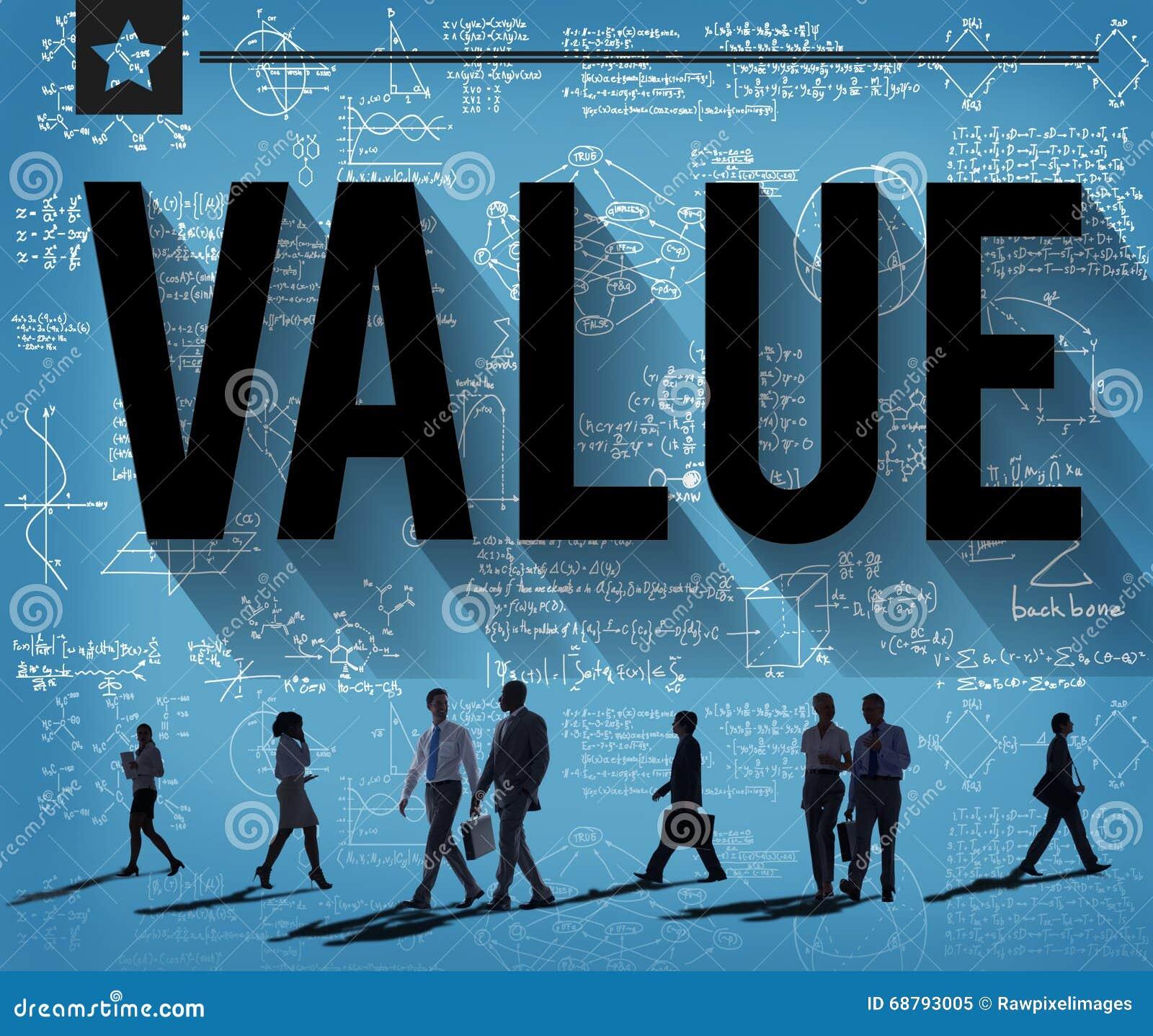 Concetto di finanza di economia dei soldi di rispetto di valori