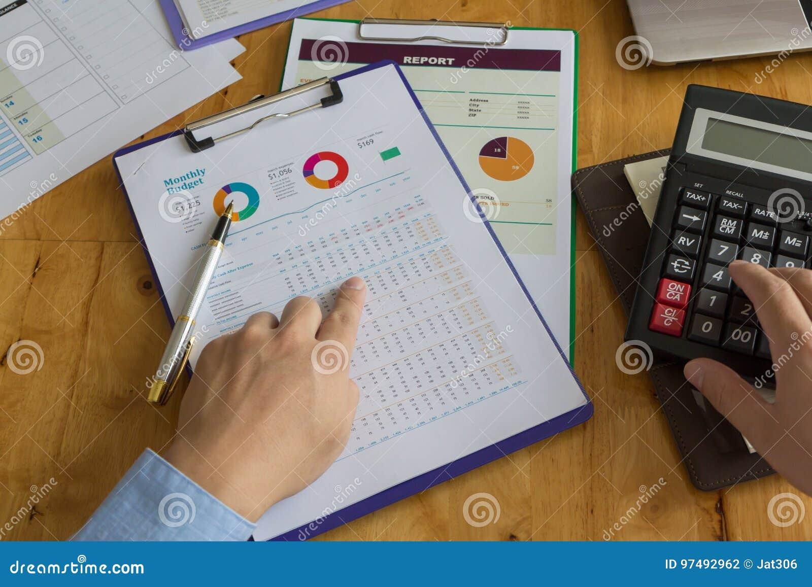Concetto di finanza e di affari di funzionamento dell ufficio,