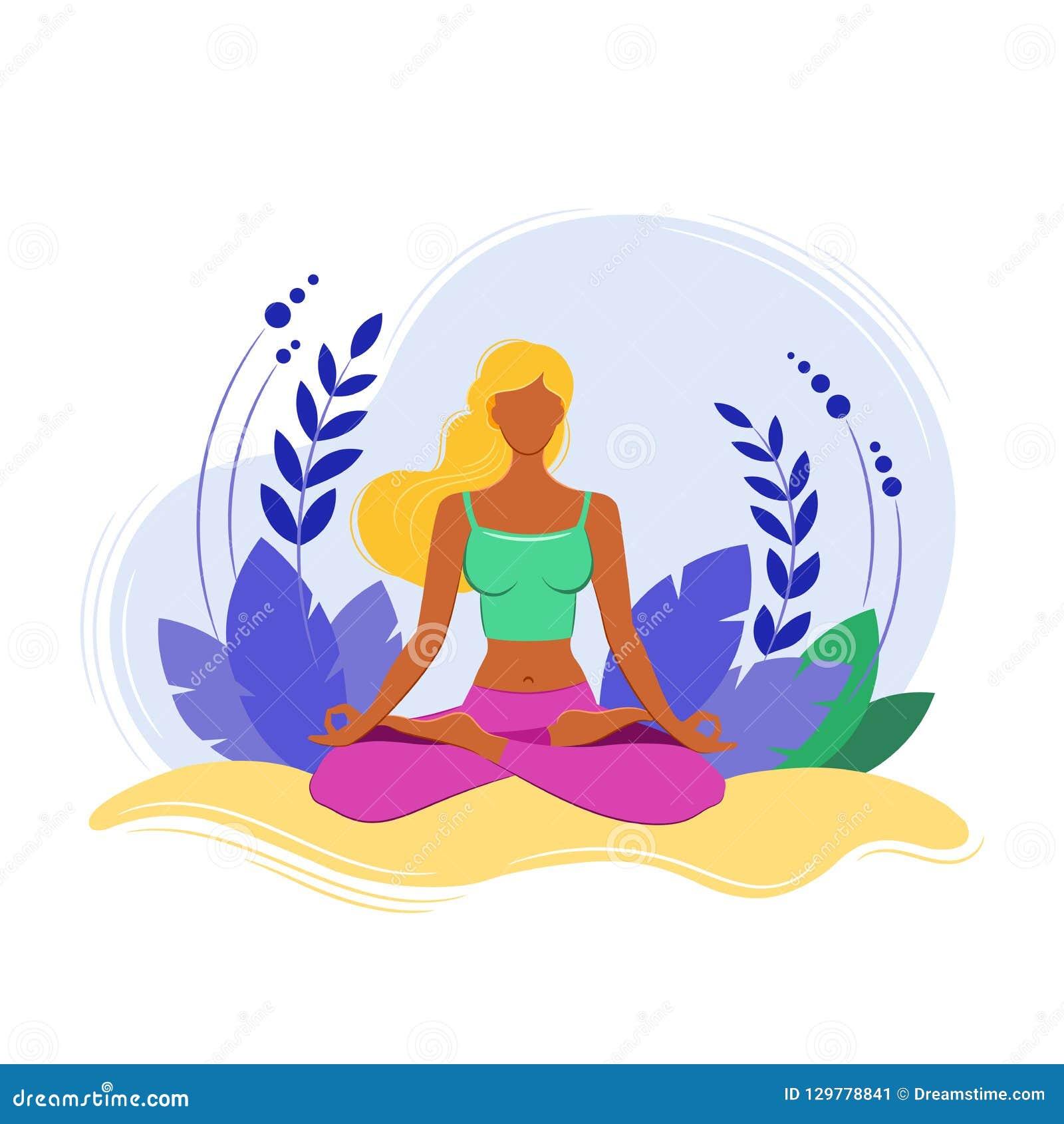 Concetto di forma fisica di yoga Donne di sport