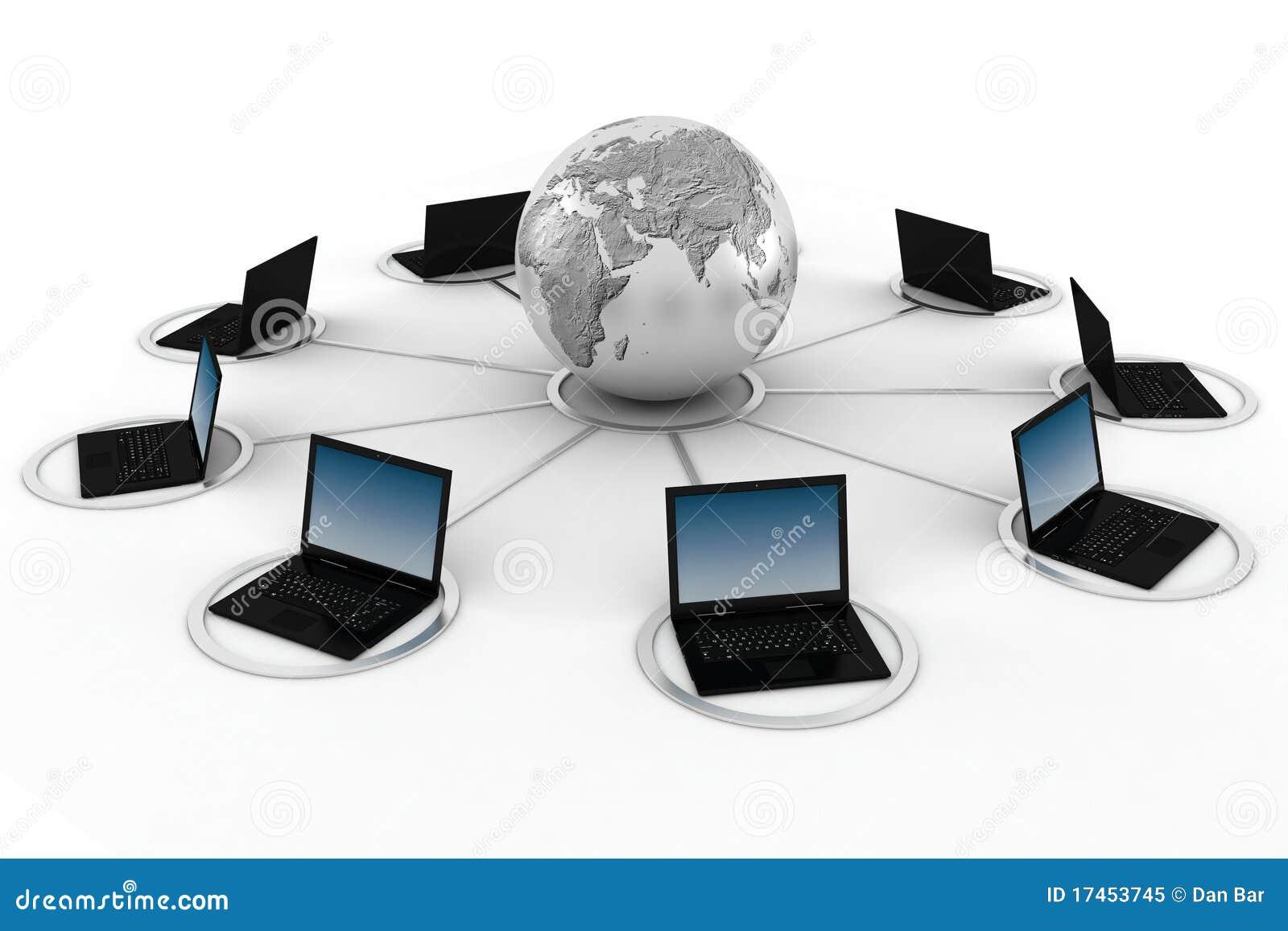 Concetto di formazione on-line 3d, isolato su bianco