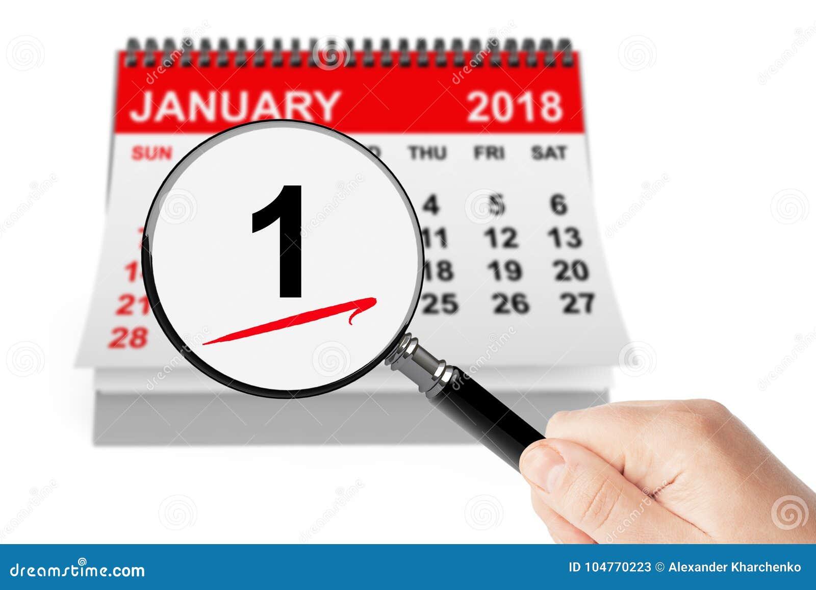 Calendario Giorno.Concetto Di Giorno Del S Del Nuovo Anno 1 Gennaio 2018
