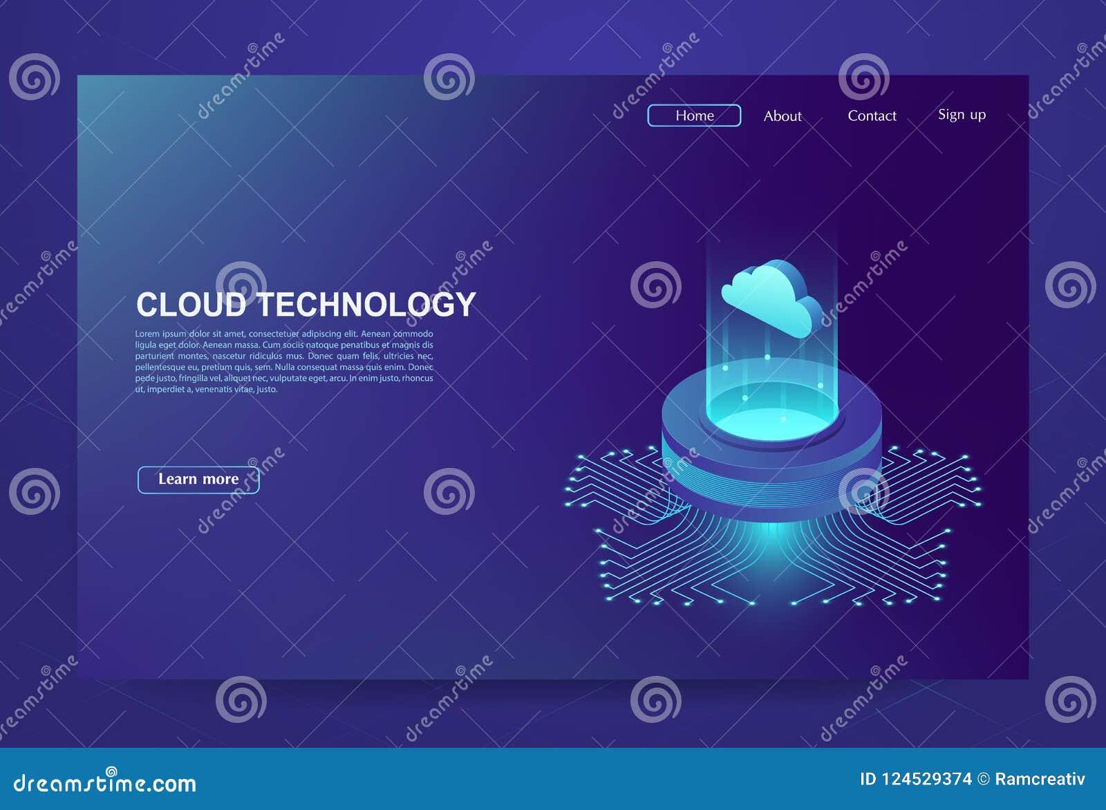 Concetto di grande centro di elaborazione dati, base di dati della nuvola