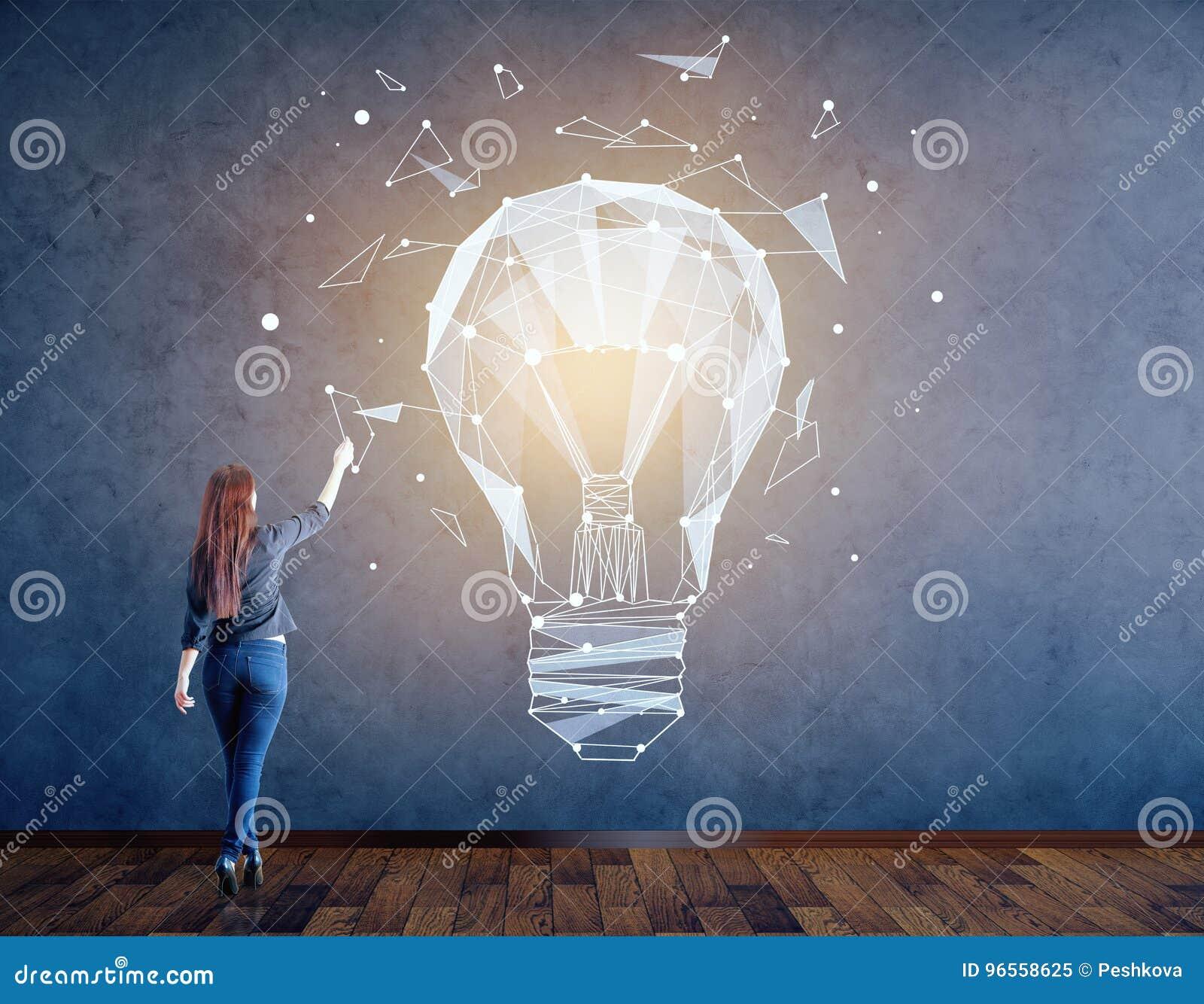 Concetto di idea e di creatività