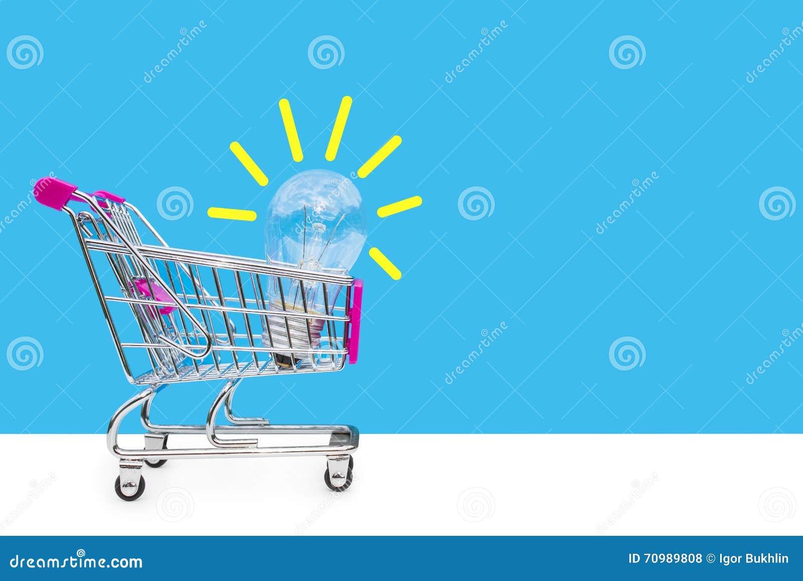 Concetto di idea Nuove idee nel commercio Il concetto di vendita e di acquisto Idee di affari