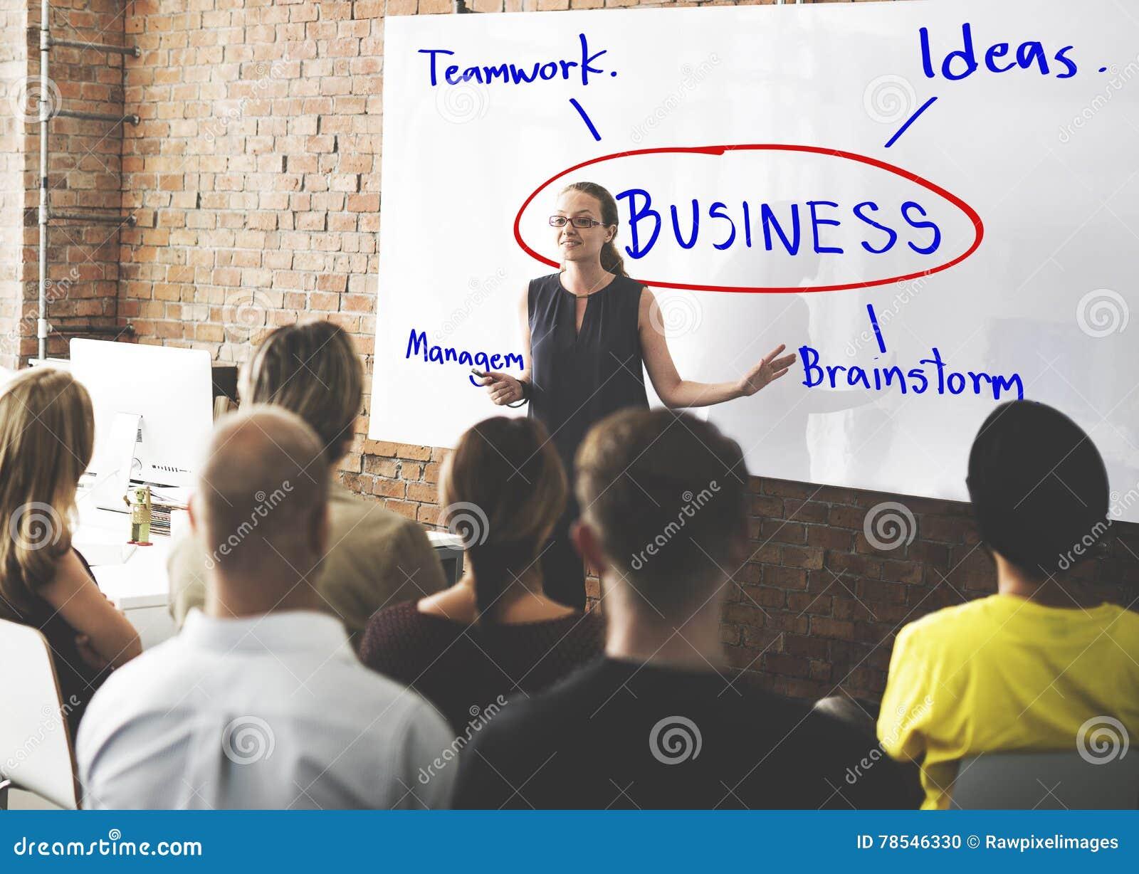 Concetto di idee del lavoro di pianificazione di lampo di genio di affari