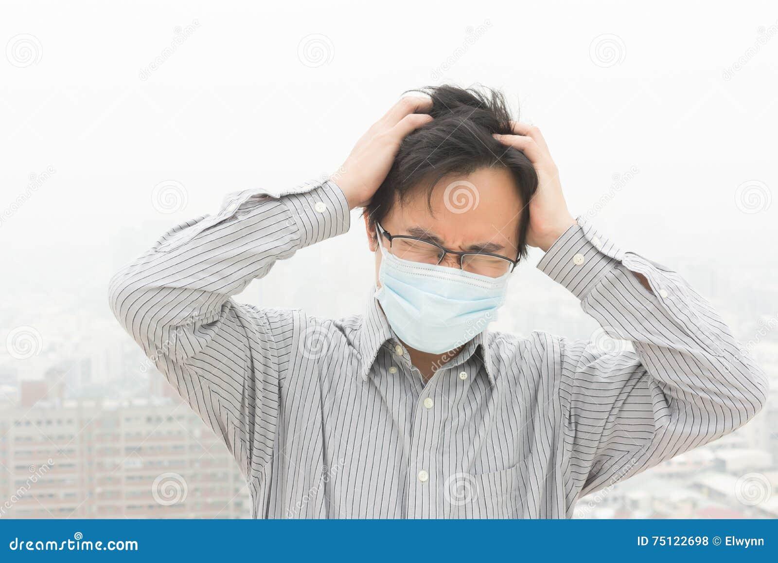 Concetto di inquinamento atmosferico