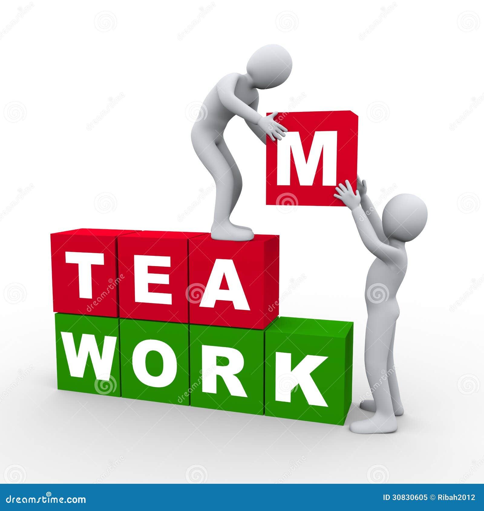 Concetto di lavoro di squadra della gente 3d
