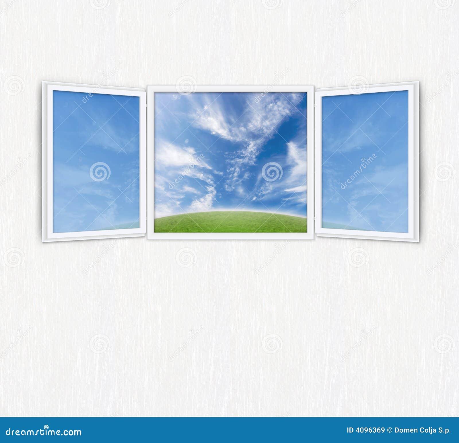 Concetto di libert della finestra aperta for Disegno di finestra aperta