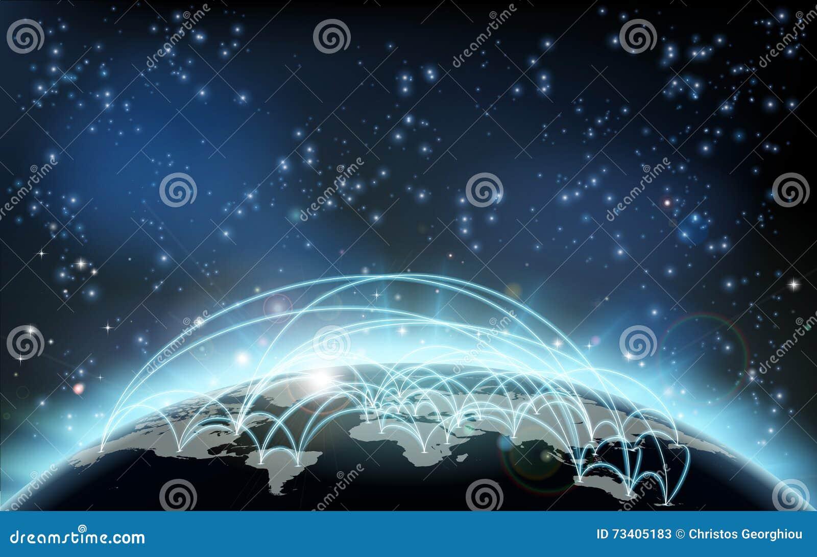 Concetto di logistica dei trasporti della mappa di commercio mondiale