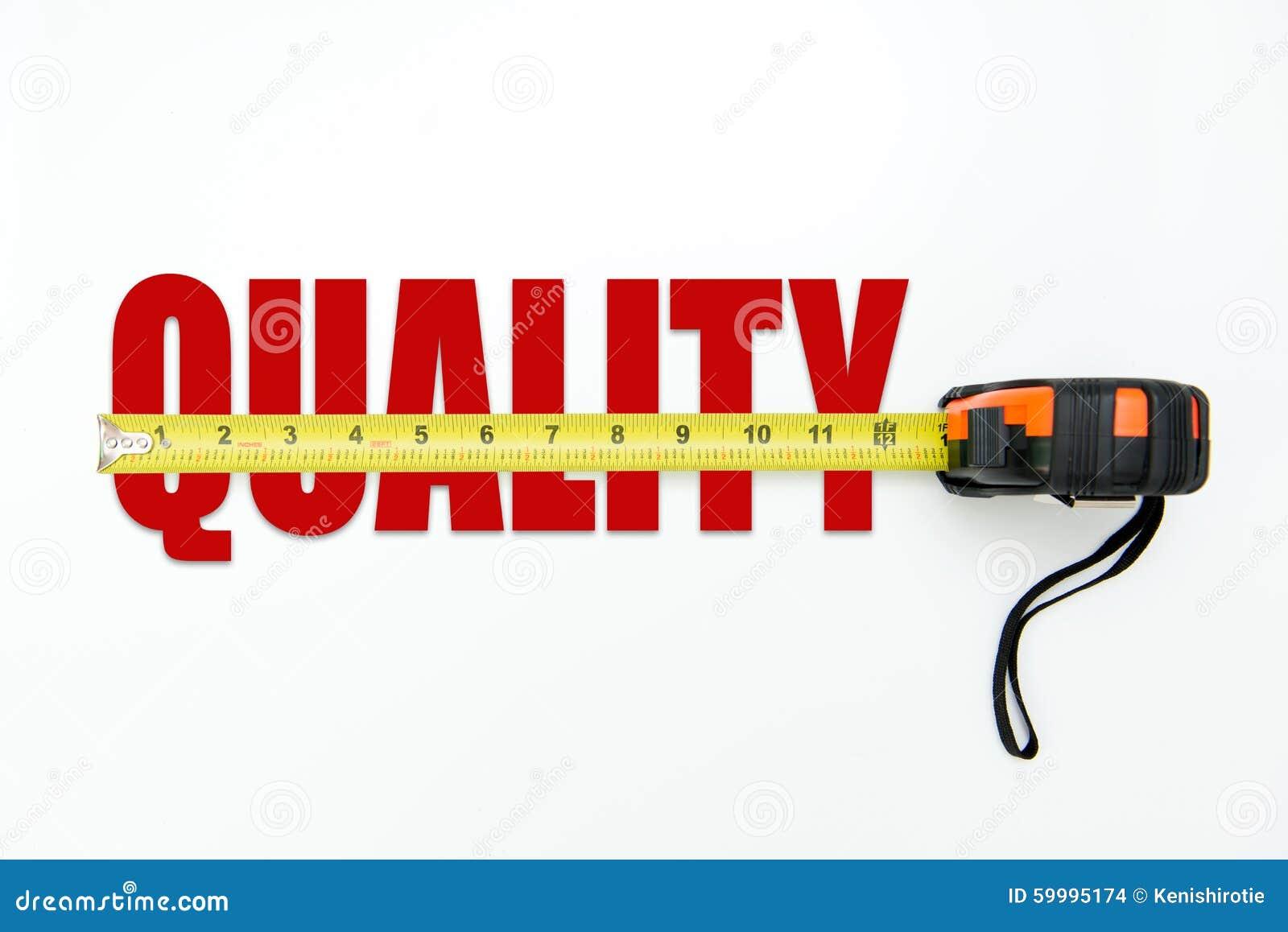 Concetto di misurazione della qualità