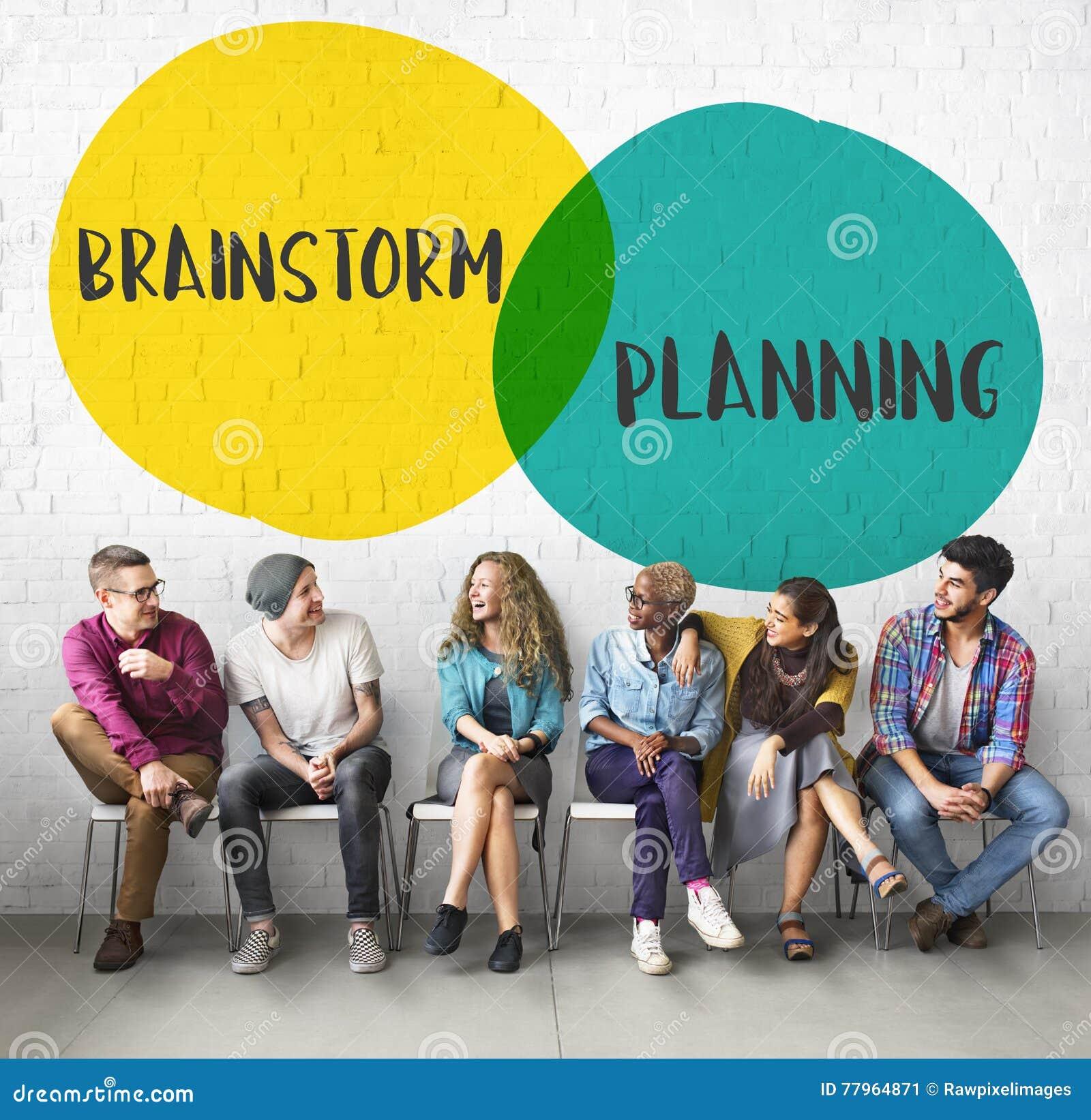 Concetto di motivazione di direzione di idee di pianificazione di lampo di genio